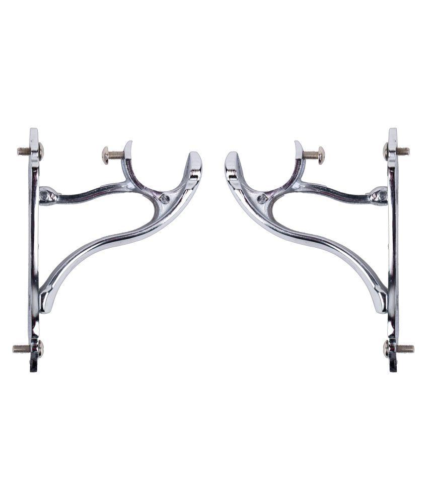 CasaGold Set of 2 Zinc Single Rod Bracket