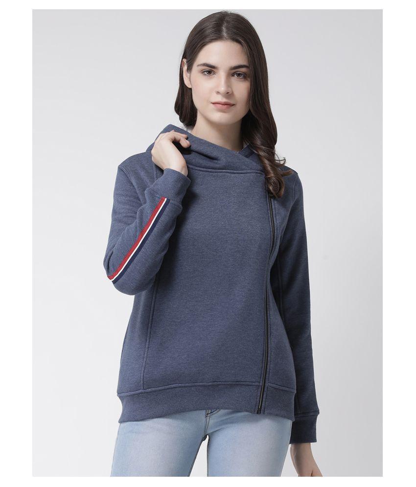 Club York Fleece Navy Zippered Sweatshirt