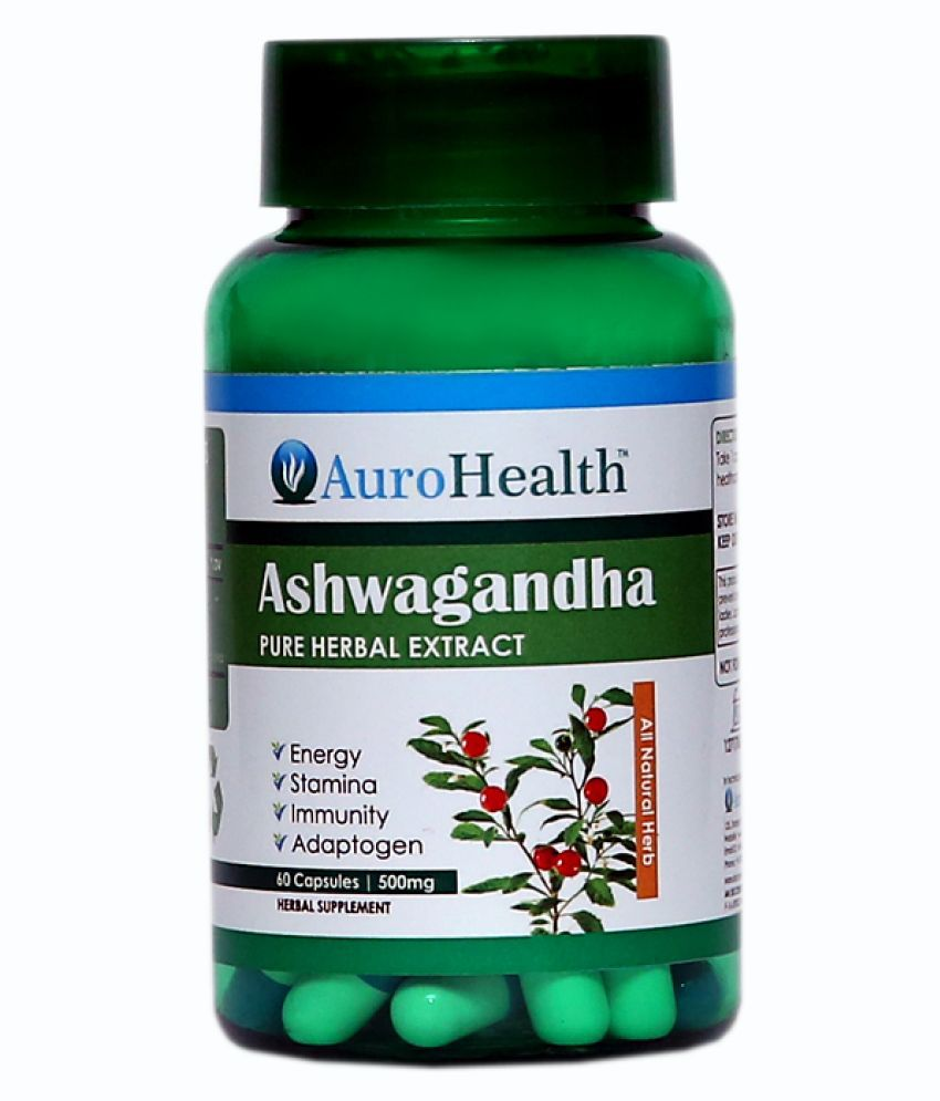AuroHealth Ashwagandha Extract 500 mg Unflavoured