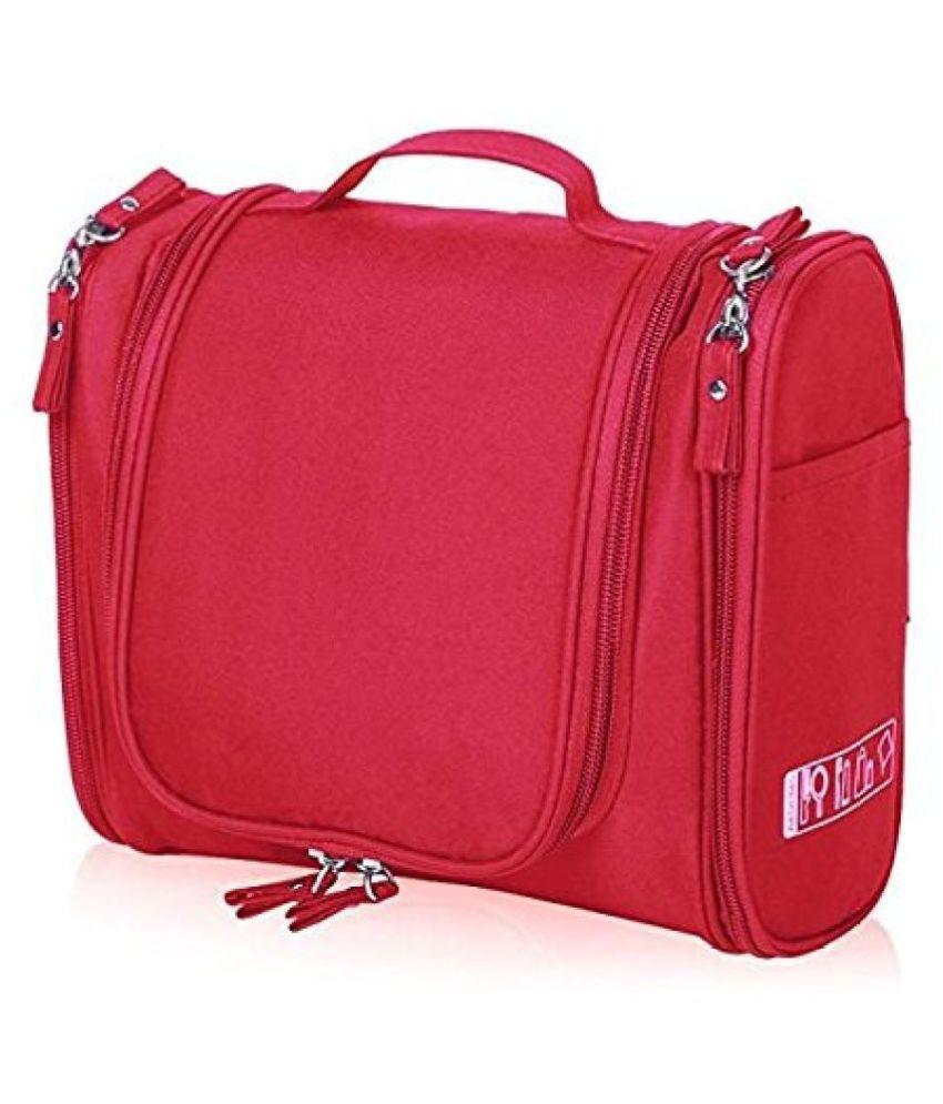 Everbuy Red Multifunctional Travel Bag Extra Large Makeup bag