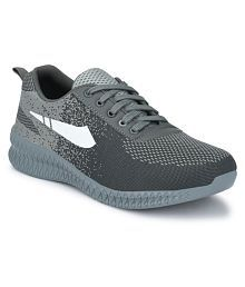 WALKSTYLE Men's Gray Running Shoes