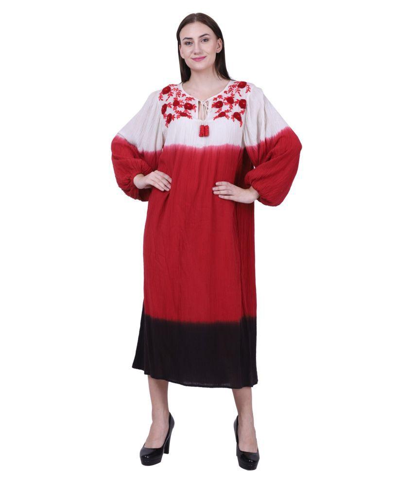 Reme Cotton Multi Color A- line Dress