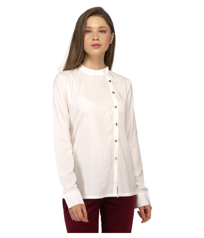 emblaze White Polyester Shirt
