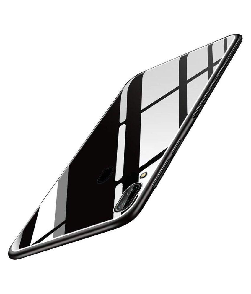 Vivo V9 Mirror Back Covers Designer Hub   Black