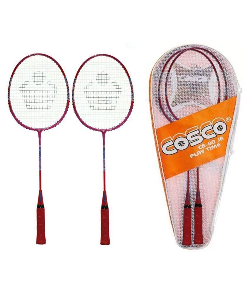 Cosco CB-80 Kids (1 Pair) Badminton Raquet Assorted