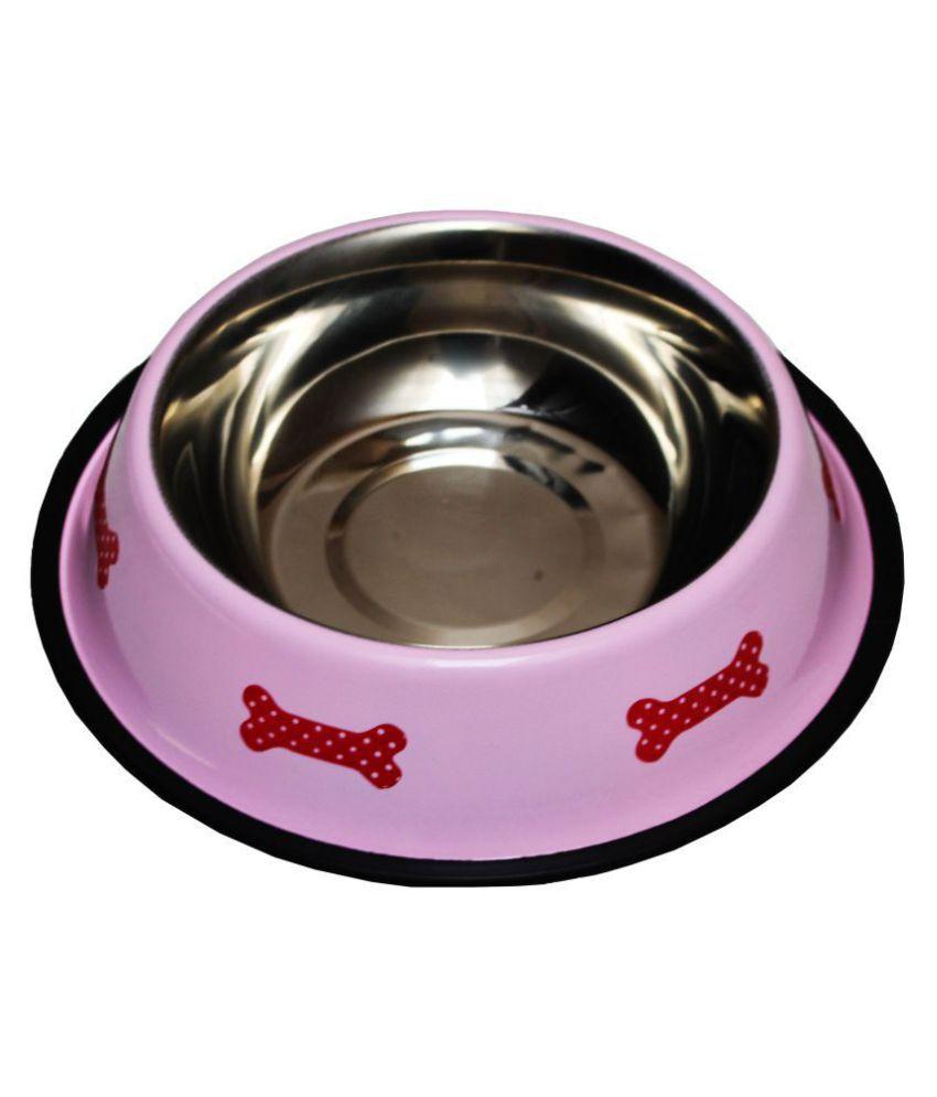 Petshop7 Regular Anti Skid Dog Food Bowl 920ML Round Stainless Steel Pet Bowl