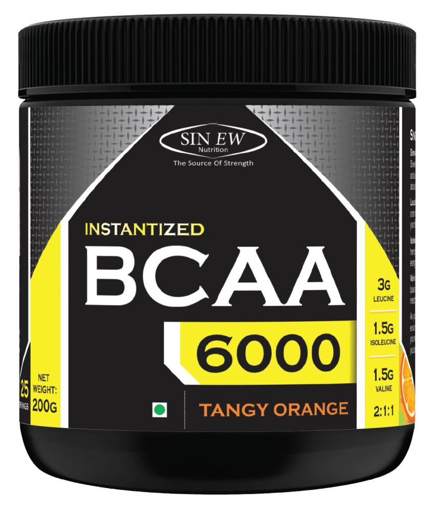 Sinew Nutrition Instantized BCAA 2:1:1 Tangy Orange, 200 gm