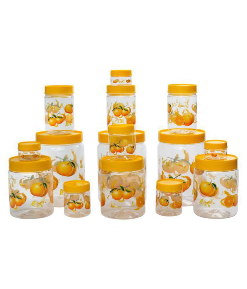 G-Pet Print Magic Orange PET Food Container Set of 15 2200 mL