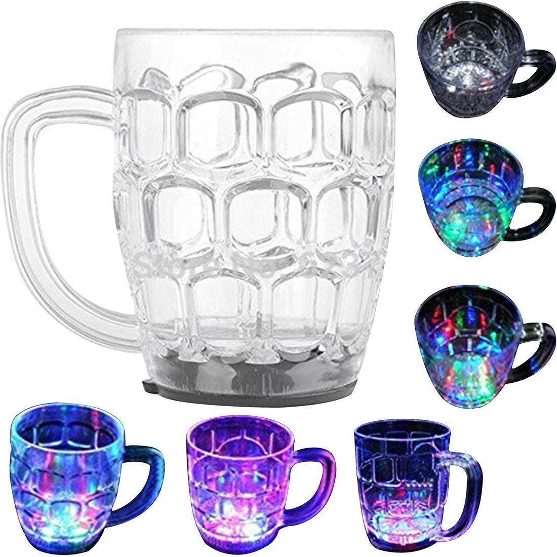 Lav's Light Changing Fiber  Mug With Inductive Rainbow Color Disco Led 7 Colour Changing Mug 350ml
