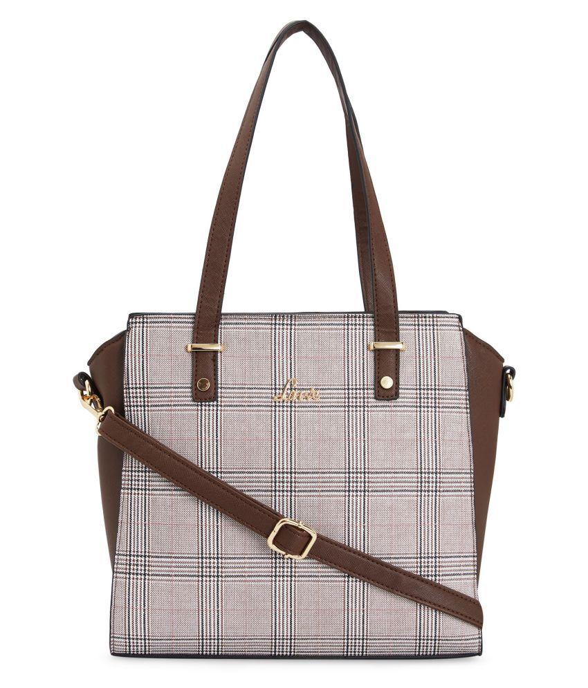 Lavie Brown P.U. Satchel Bag
