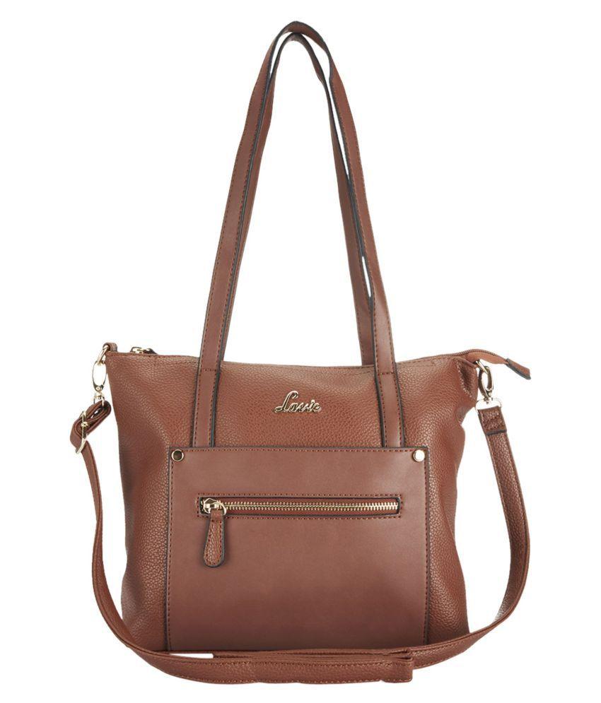 Lavie Brown P.U. Tote Bag