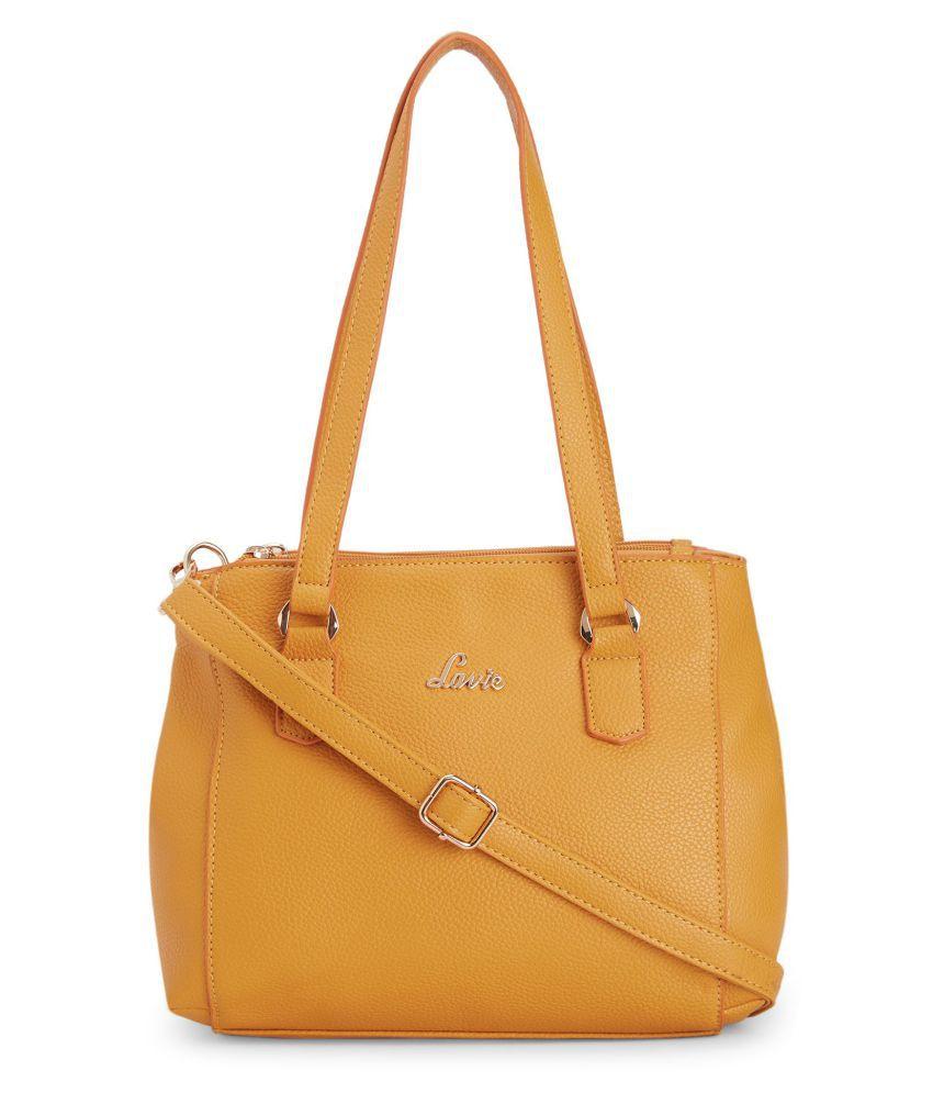 Lavie Yellow P.U. Satchel Bag