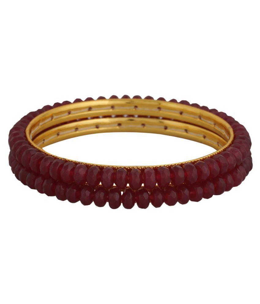 sharma pearls and jewellers MULTICOLOURS\nPearl Bangle Set