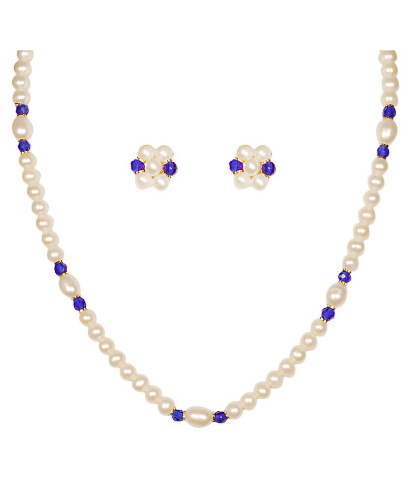 sharma pearls and jewellers Pearls Multi Color Other Designer Necklaces Set