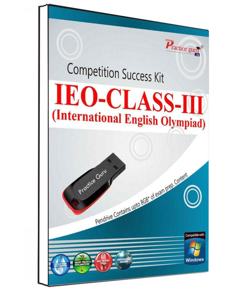 Practice Guru 115 Test 10 Mock Test,10 Previous Year Paper  for 3 Class IEO Exam  Pen Drive