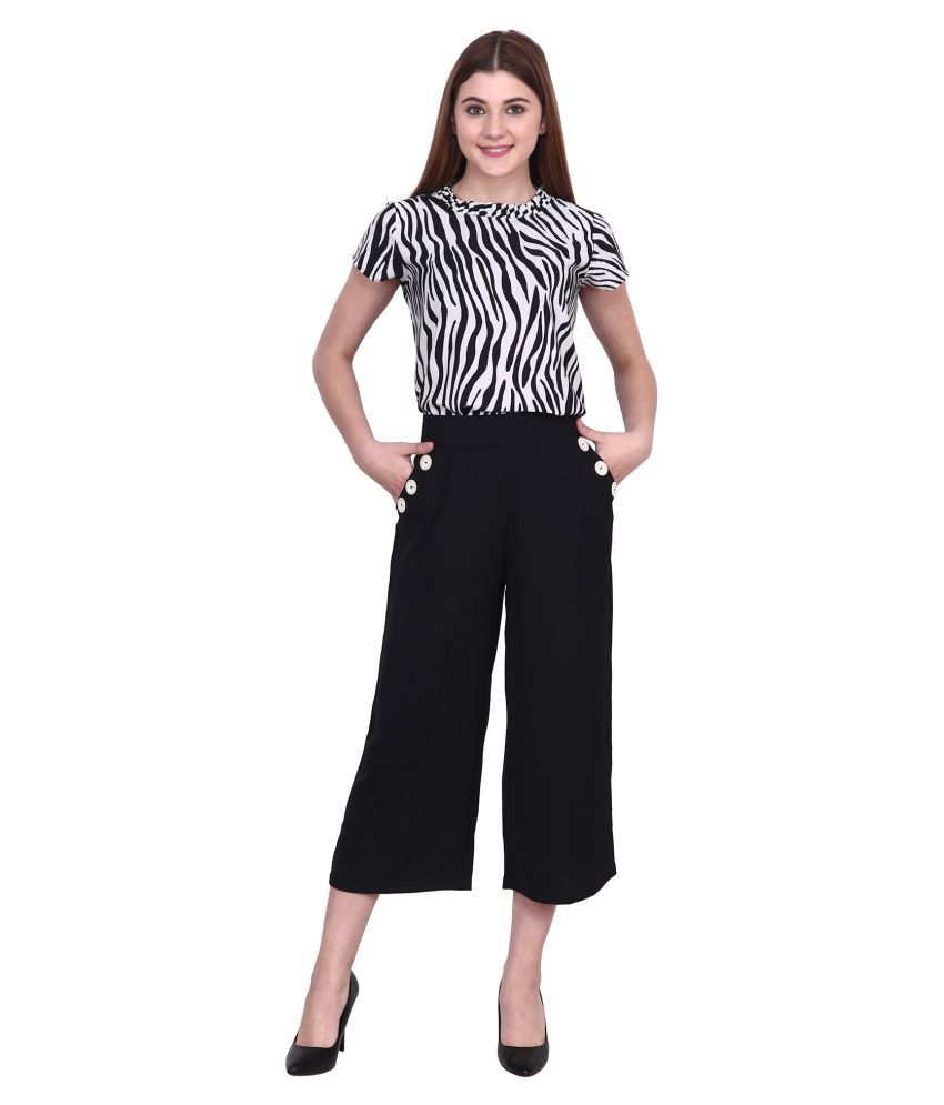 POPWINGS Black Polyester Jumpsuit