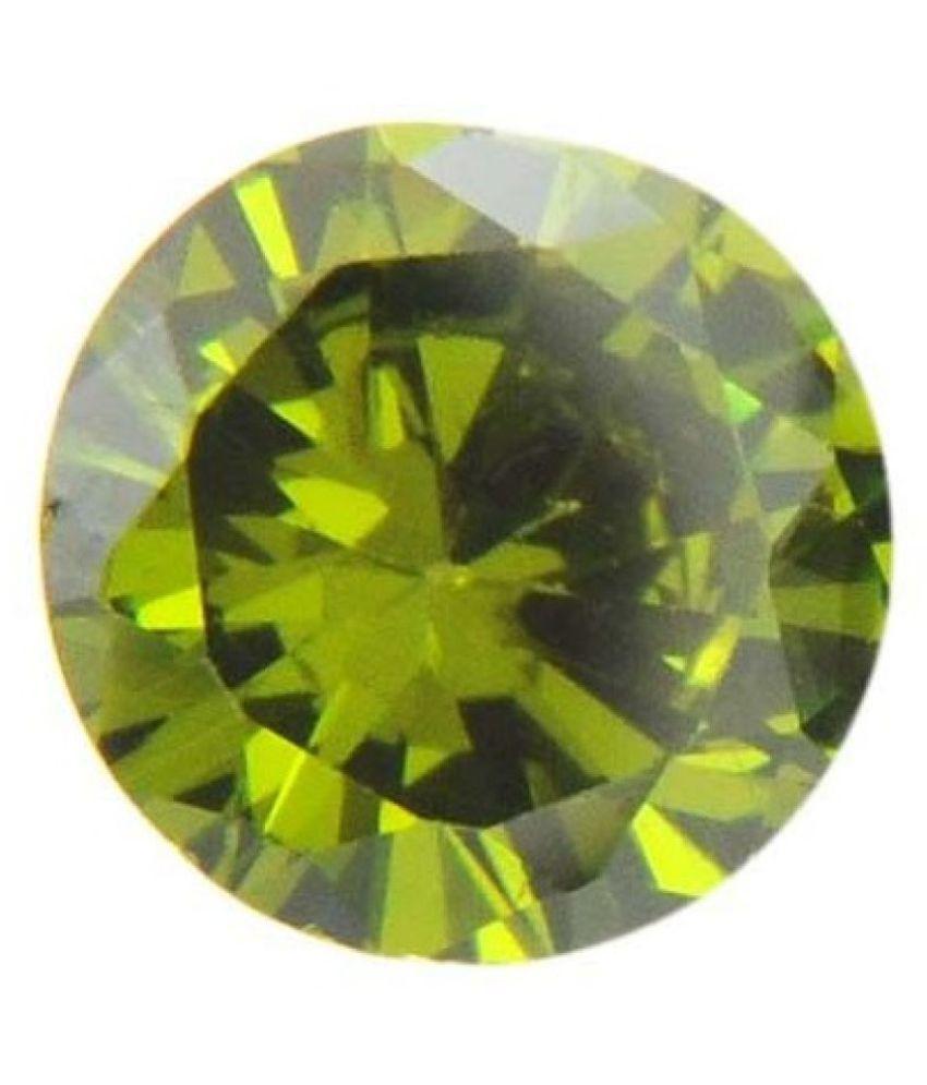 Takshila Gems 7.25 -Ratti Self certified Green Zircon Semi-precious Gemstone
