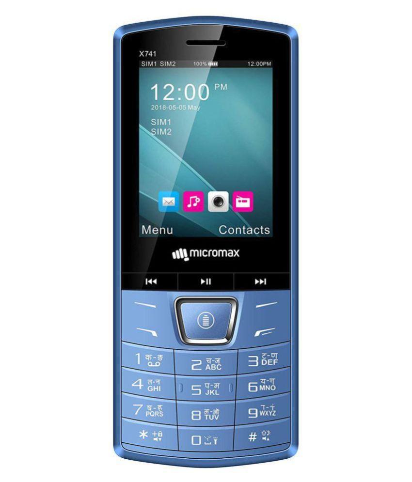 Micromax X741 DUAL SIM MOBILE Blue