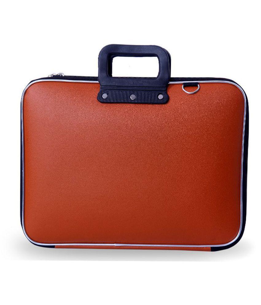 Tuscany Tan PU Leather Office Laptop Bag With String 15 Inch/Side Bag Cross Bag Leather Bag Men Man Side Bag Gents Bag Men