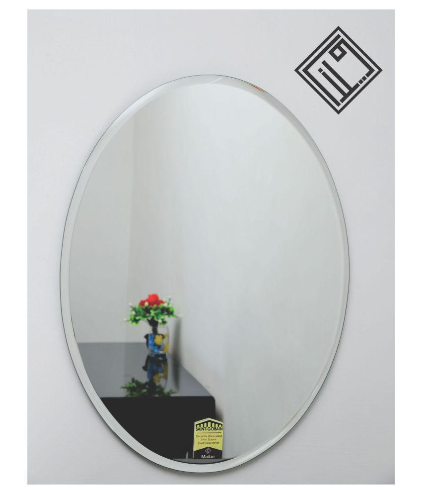 MAILAN AND CO Mirror Wall Mirror Silver ( 61 x 46 cms ) - Pack of 1