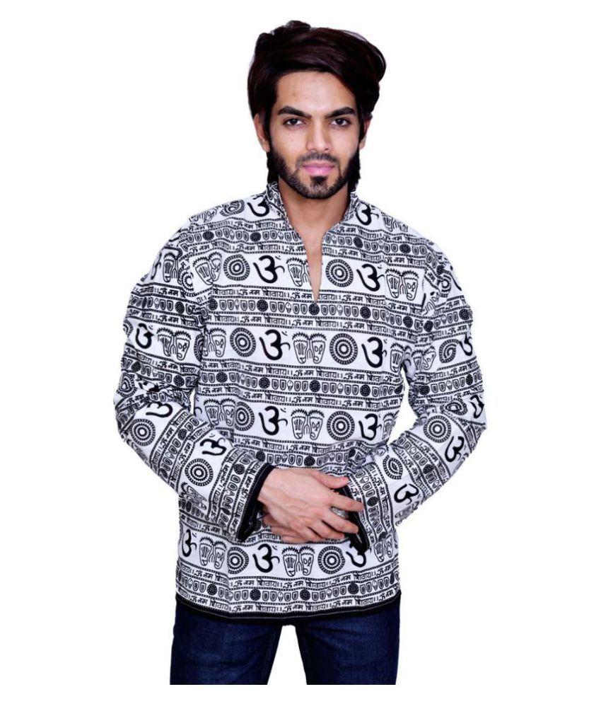 Balaji Garments White Cotton Kurta