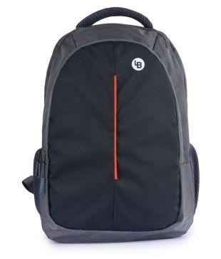 LIONBONE Grey Polyester College Bags  28 Ltrs Office Laptop Bags  15 Inch Backpacks Shoulder Bag For Men   Women
