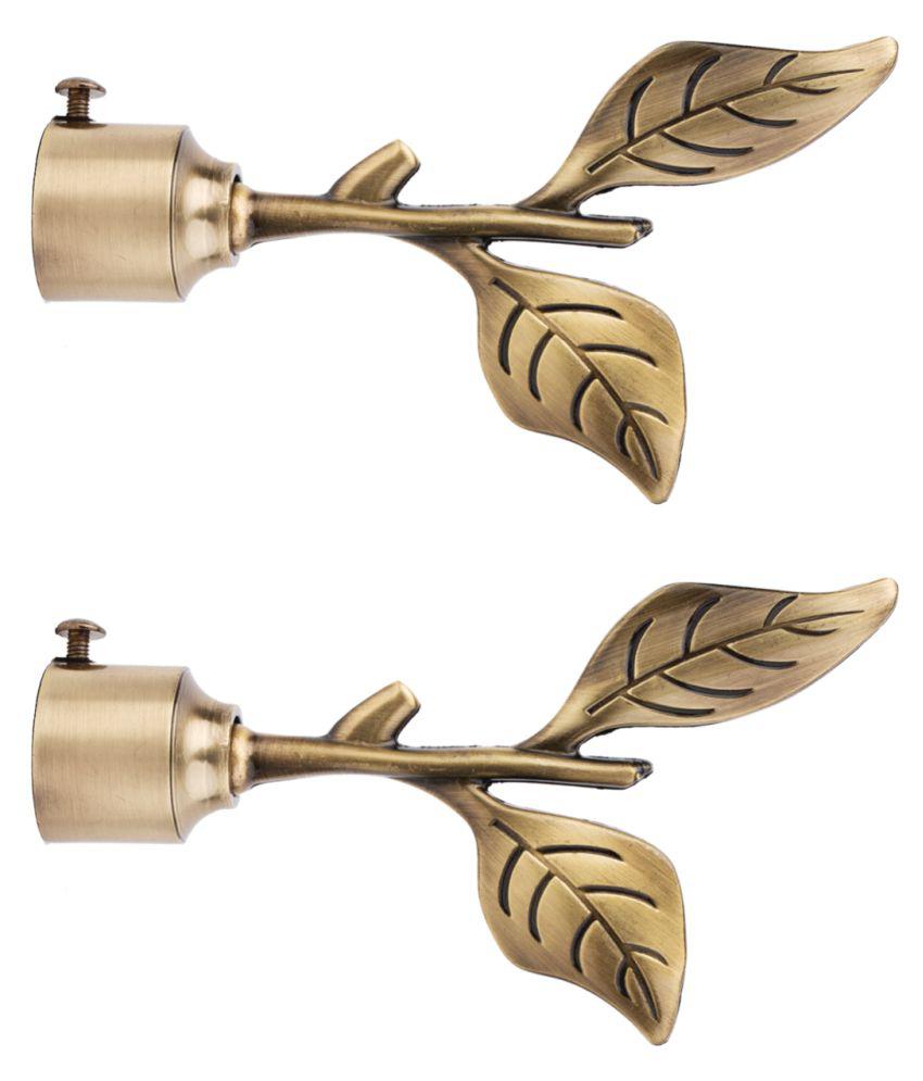 casa gold Set of 2 Brass Single Rod Bracket