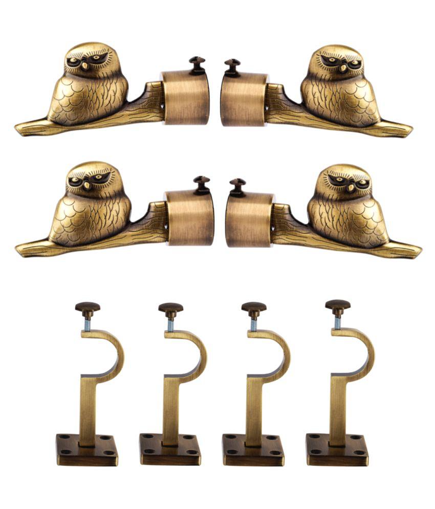 casa gold Set of 8 Brass Single Rod Bracket