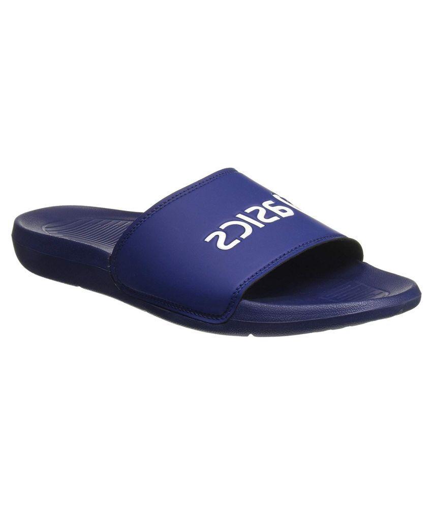 Asics Navy Slide Flip flop Price in India- Buy Asics Navy Slide ...