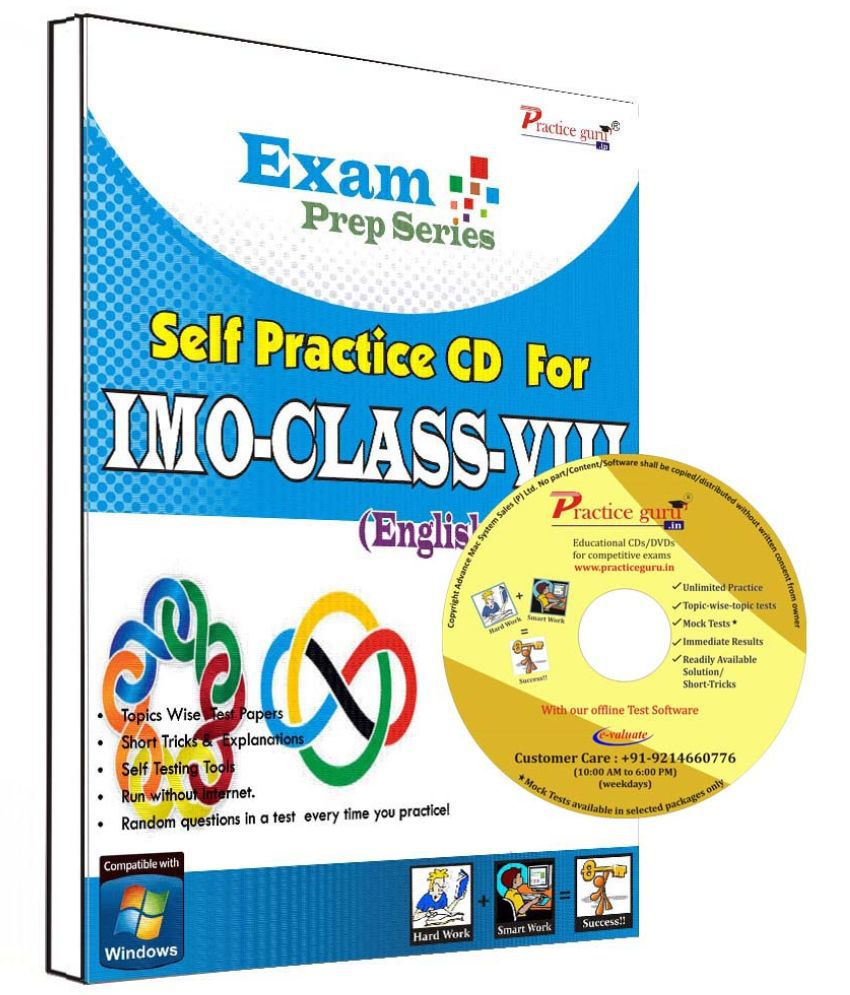 Practice Guru 32 Test ,10 Previous Year Paper  for 8 Class IMO Exam  CD