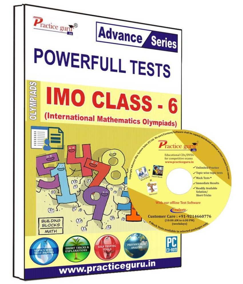 Practice Guru 70 Test 10 Mock Test,10 Previous Year Paper  for 6 Class IMO Exam  CD