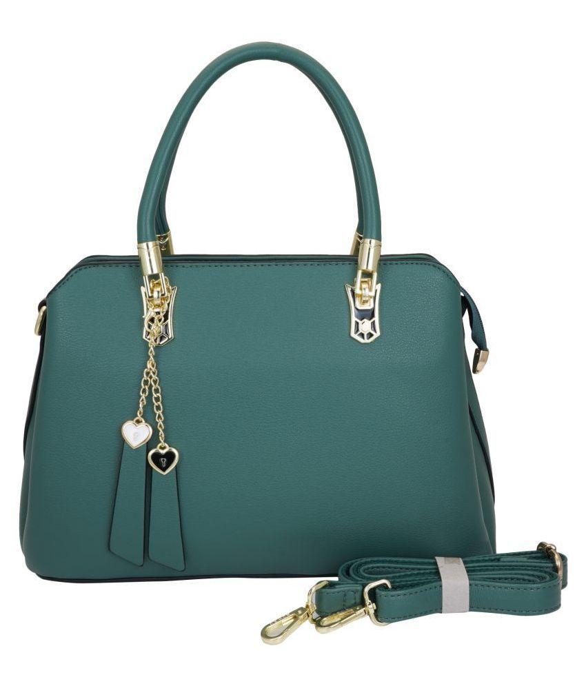 TS Collection Green P.U. Sling Bag
