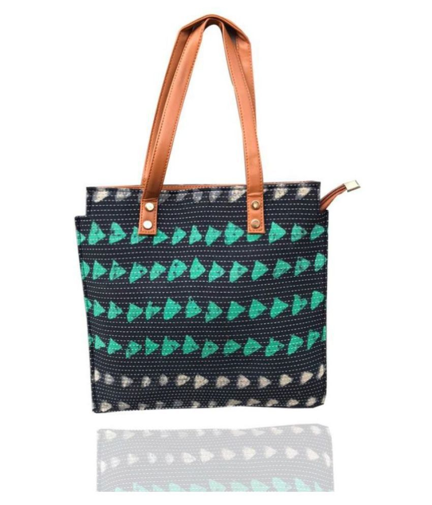 Craferia Export Green Cotton Handbags Accessories