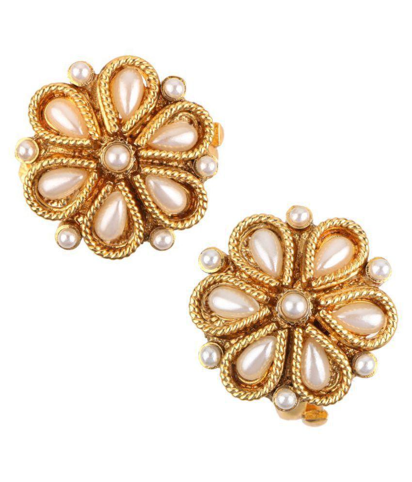 Adiva Bichiya Metti White Copper Adjustable Leg Jewellery Toe Ring for Women