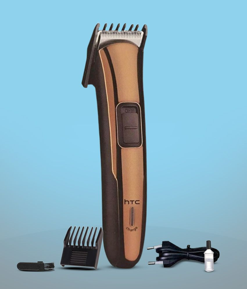 HTC AT 205 Rechargeable Cordless Beard Trimmer for Men (Gold)