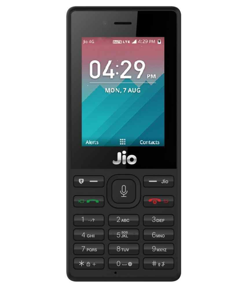 JIO MOBILE (Black, 4G) - Security Deposit