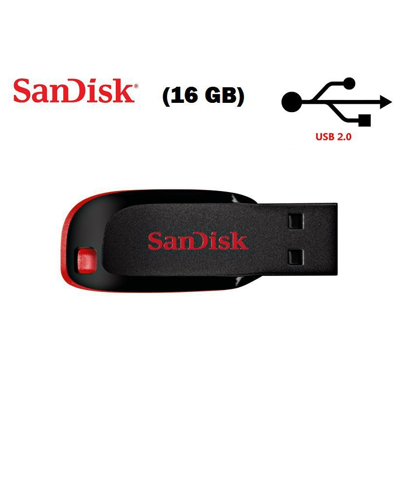 SanDisk Cruzer Blade USB Flash Drive 16 GB