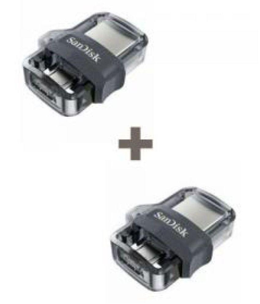 SanDisk Ultra Dual 16 GB USB 3.0 OTG Pendrive (Combo of 2)