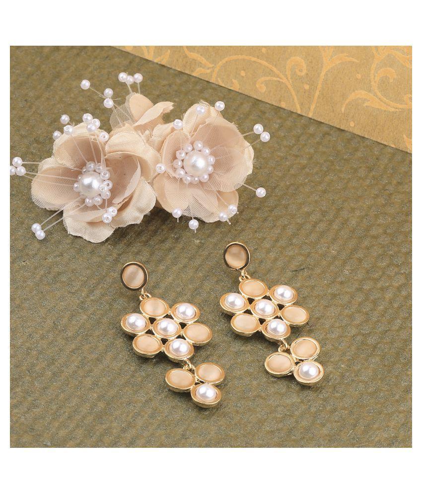 SILVER SHINE Fashion Delicated Patry Wear Pearl Earring For Women Girl