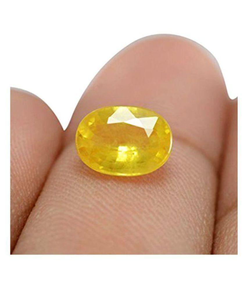 Crafty Soul Design 6.25 -Ratti IGL&I Yellow Yellow Sapphire (Pukhraj) Precious Gemstone