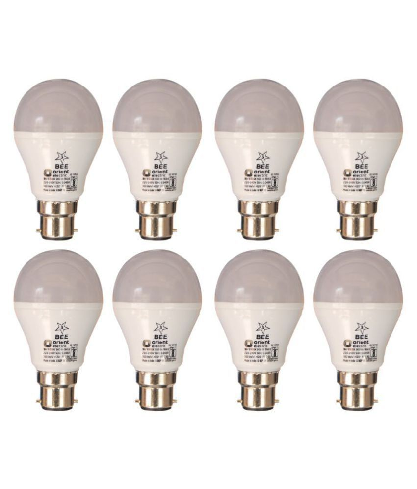 ORIENT ELECTRIC 9W LED Bulbs Cool Day Light   Pack of 8