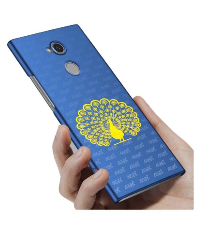 super ajanta Peacock Dance gold plated mobile sticker 4057