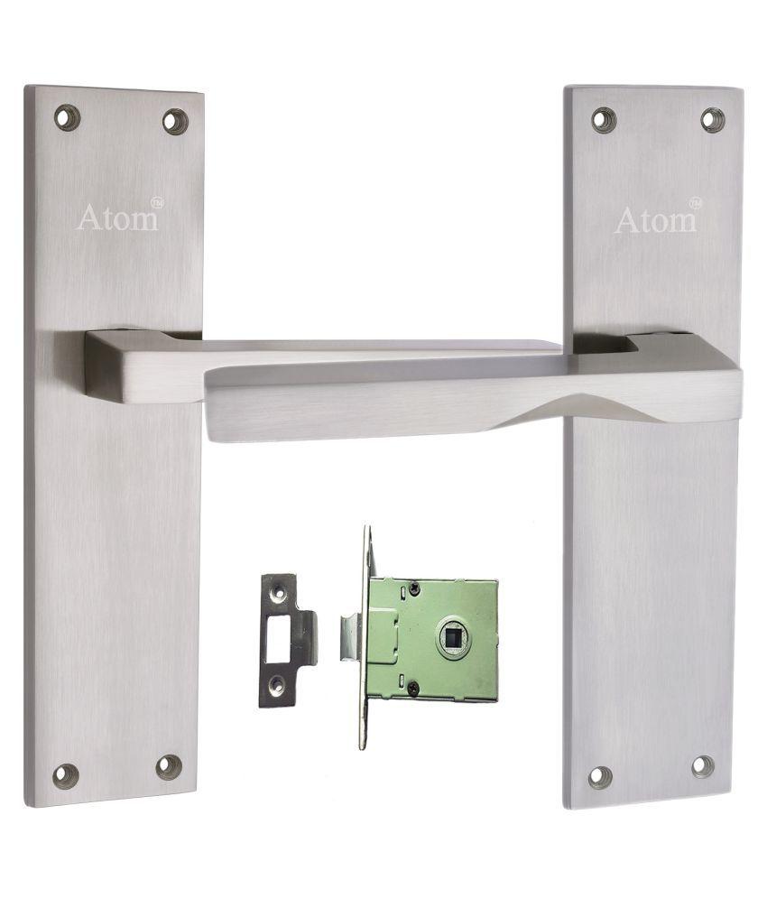 Atom AL-53 Closed S.S Finish with Iron Latch,Mortise Lock,Door Lock,Bathroom Lock……