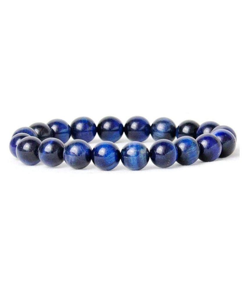 natural blue tiger eye crystal 8 mm stretch bracelet