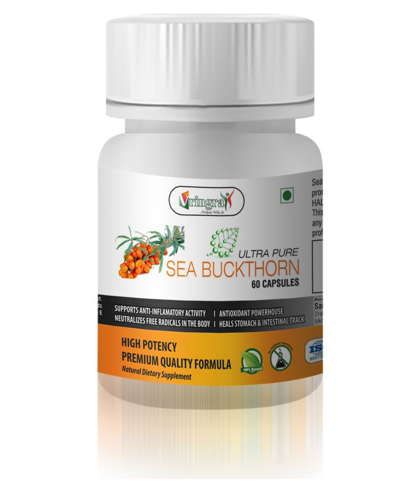 Ultra Pure Sea Buckthorn Capsules - Multivitamin Capsules & Minerals - Health Supplement 60 gm Natural Minerals Capsule