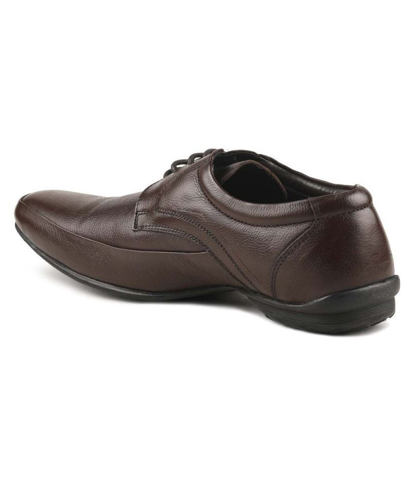 Paragon Brown Formal Shoes Price in