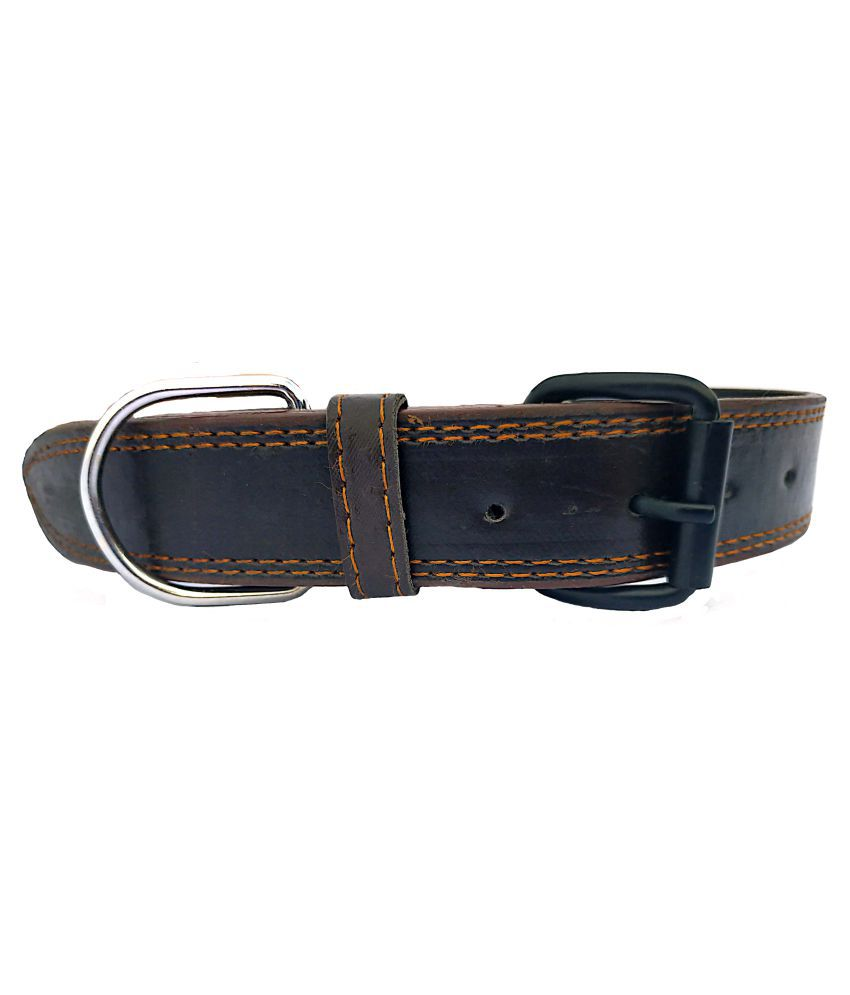 Forever99 Pet Shop Leather Dog Collar Neck Belt for Small Dogs (Brown)