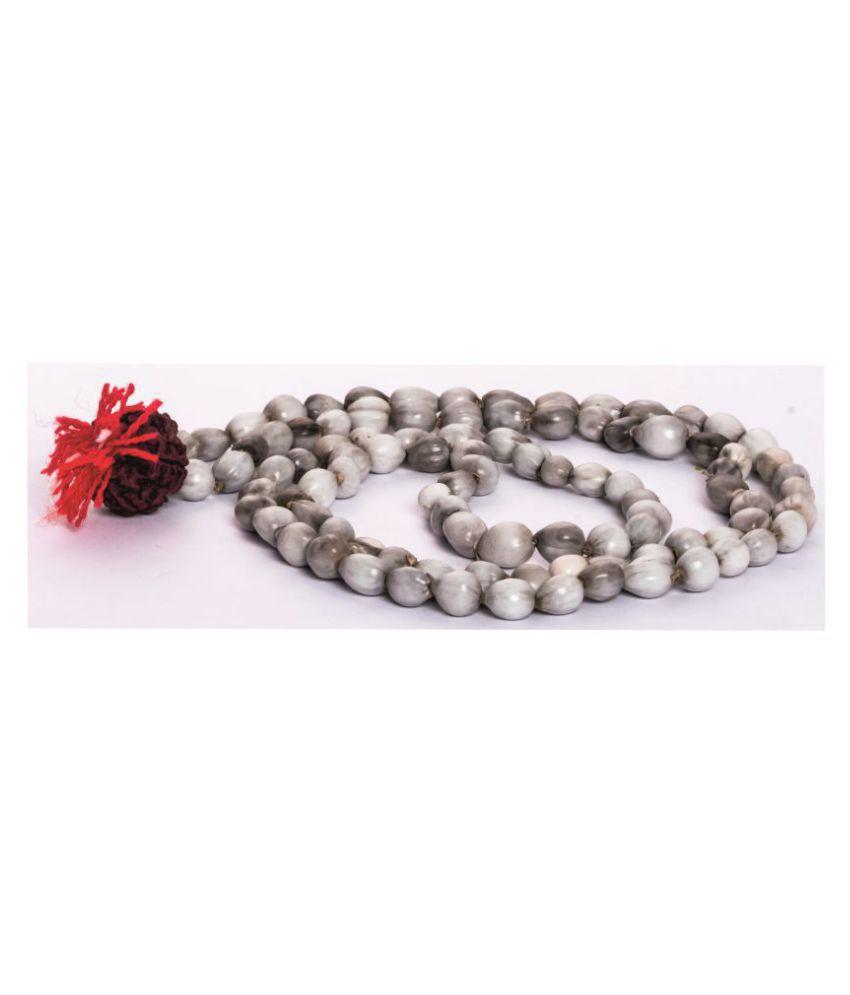 Arkam Vaijanti Mala/ 100% Natural Vaijanti Mala with Rudraksha/ Original Vaijanti mala (Length: 32 inches, Beads: 108+1) with Gaumukhi