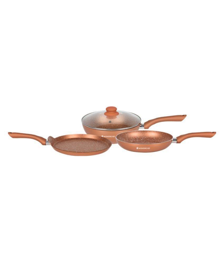 Wonderchef Romano Set - Bronze 3 Piece Cookware Set