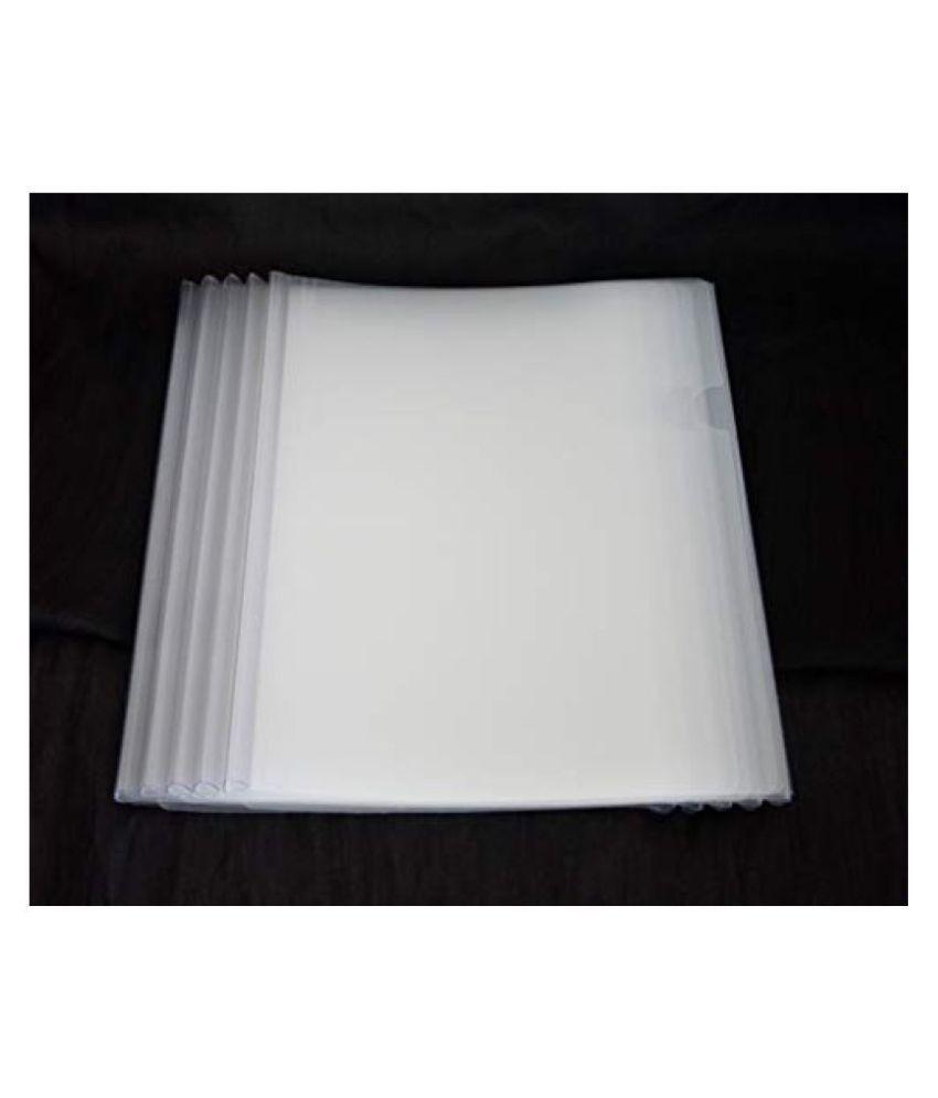 Arbuda Transparent Strip File Folder Display Cover Organizer Binder Strip Presentation Folder Conference Folder Sliding Bar Report Covers for A4 Report Pack of 10 pcs Natural Colour